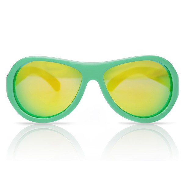 Sonnenbrille 7-16 Jahre schadstofffrei Bläter Print grün