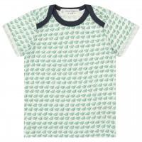Babyshirt kurzarm grün Papierflieger