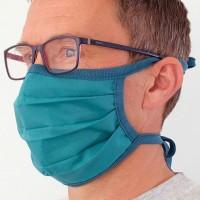 Wiederverwendbare Maske elastischen Bändern – Mundbedeckung petrol
