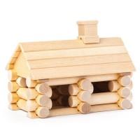 Holzbaukasten Blockhütte ab 4 Jahren, 36 Teile