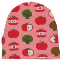 Warme Beanie Apfel rosa