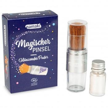 """Bio Glitzerpuder """"Magischer Pinsel"""" - Silber"""
