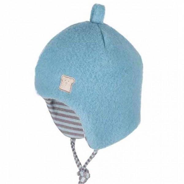 Bio Wintermütze Schurwolle innen aus Wolle Seide - neutral