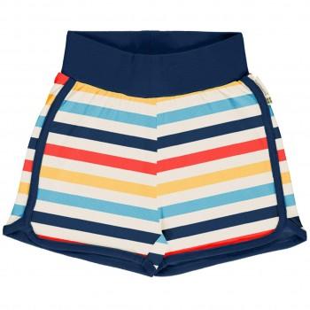 Leichte Ringel Jersey Shorts in bunt