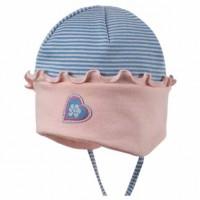 Vorschau: Bio Babymütze für Sommer & Übergangszeit - pink blue