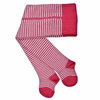 Baby Strumpfhose mit breitem Bund grau rot