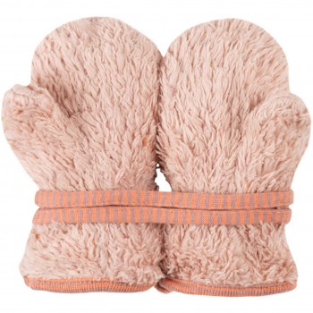 Plüsch Handschuhe Biobaumwolle rosa