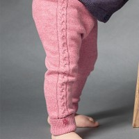 Baby Strickleggings in rosa
