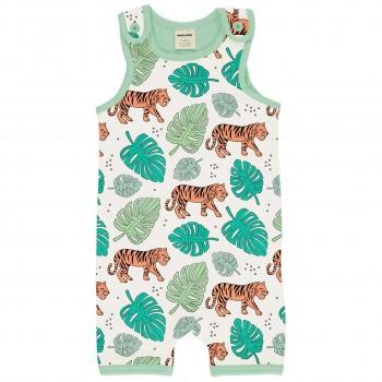 Sommer Strampler Beachbody Jungle Tiger hellgrün