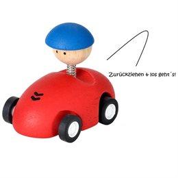Kleiner Autoflitzer mit Getriebemechanismus rot