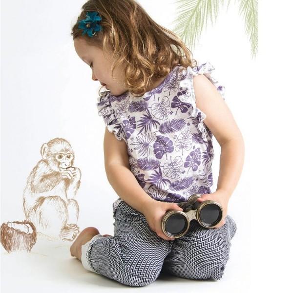 Bio Kinder Shirt mit Schmetterlingsärmel