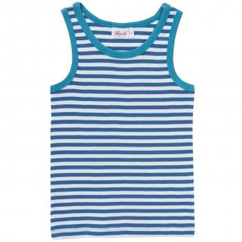Jungen Unterhemd Ringel blau