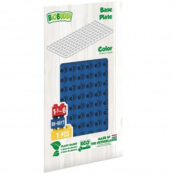 Bauplatte für Stecksteine – Basisplatte blau 15x30 cm
