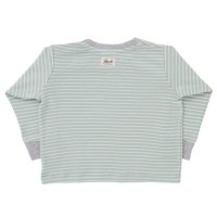 Vorschau: Langarm Shirt mint geringelt