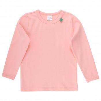 Basic Langarmshirt in pfirsichfarben