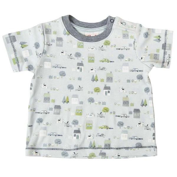 Bio T-Shirt Baby Druckknöpfen blau