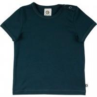 Schlichtes elastisches T-Shirt in dunkelblau