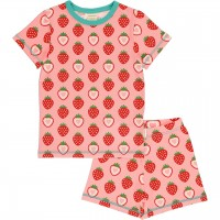 Sommer Schlafanzug Erdbeere rosa