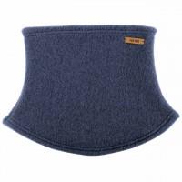 Loopschal Wolle Fleece in jeans-blau