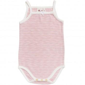 Sommer Body ärmellos rosa geringelt