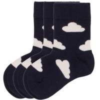 Neutrale Wolken Bio Socken navy