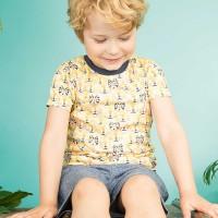 Tiger Shirt für Jungen kurzarm - beige