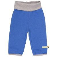 Bio Fleece Hose mit Wolle blau
