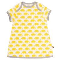 Leichtes Kleid Nasenbären gelb