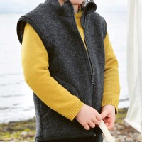 Leichter Wolle Pullover cooles curry