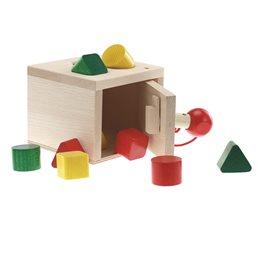 Sortierbox zum Stecken als Steck-Tresor mit Schlüssel