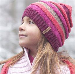 Coole Strickmütze Mädchen Ohrenbereich warm gepolstert