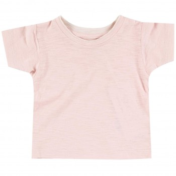Slub Jersey Uni Shirt kurzarm rosa