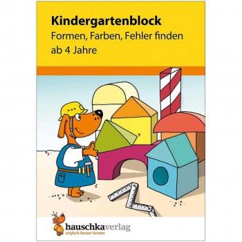 """Kindergartenblock """"Formen, Farben, Fehler finden"""" ab 4 Jahre"""