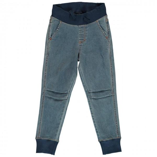 Helle Schlupfhose als Jeans mit Bündchen
