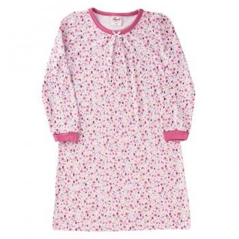 Nachthemd leicht in langarm rosa Hühner