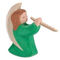 Engelchen mit Flöte Krippenfigur  Holzfigur 8 cm