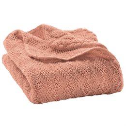 Leichte Babydecke Wolle Bio 80x100 cm rosa