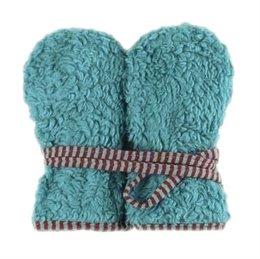 Teddyplüsch Kinder Handschuhe - blau rot