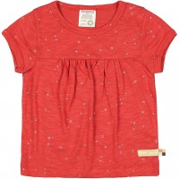 Leichtes Slub Jersey Shirt kurzarm rot