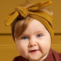 Edles Müsli Baby Haarband safran