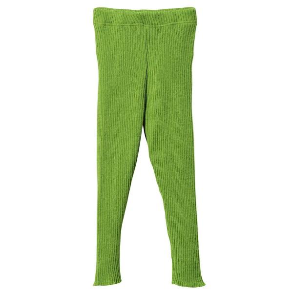 Wolle Leggings warm mitwachsend grün