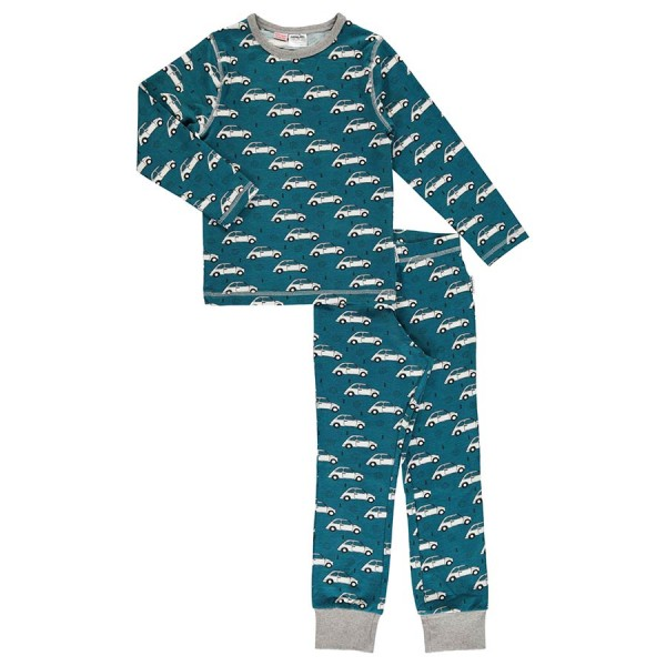 Pyjama zweiteilig Autos petrol