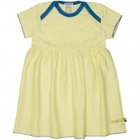 Flatter Kleid feine Streifen gelb