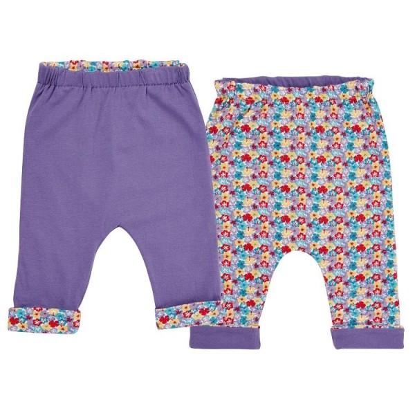 Wendehose für Babys & Kinder - doppellagig - lila