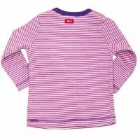 Vorschau: Öko Baby- & Kindershirt feine Rippe - pink geringelt