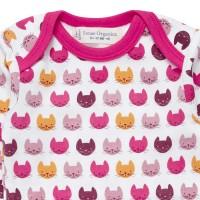 Vorschau: Bio Babybody Kätzchen pink