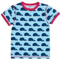 Bio Shirt blau mit süssen Walen