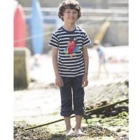 Vorschau: Jungen robuste Stoffhose zum hochkrempeln und mitwachsen