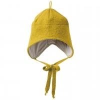 Wintermütze Wolle curry-gelb Ohrenschutz