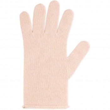 Damen Fingerhandschuhe Wolle Kaschmir rosa
